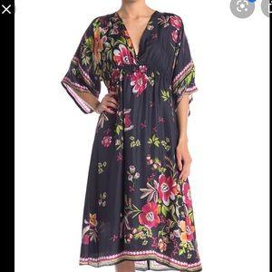 New Johnny was silk Gilmore Midi Dress Size XS